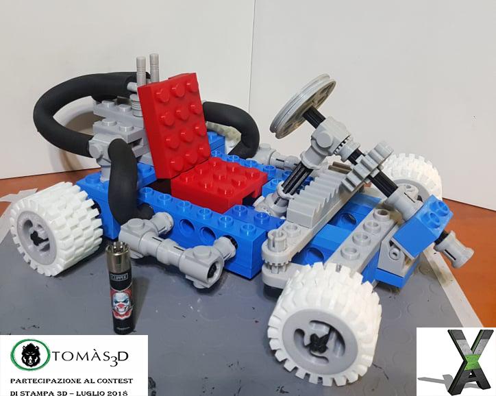 Go Kart Lego 1972 Technic | Xaxis3DPrinting